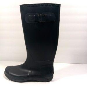 Kamik rubber rain black boots women's size 8